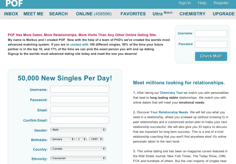 Plentyoffish Review Internet Dating Awards